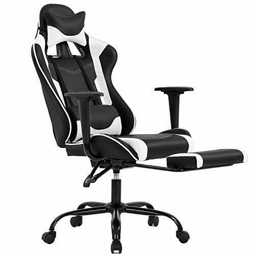 Video Racing Gaming Chair Ergonomic PU Leather Home Office Swivel Recliner Seat